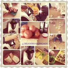 Elaboramos un rico gazpacho en nuestra Escuela para el día de Andalucía