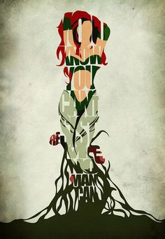 Poison Ivy Inspired Minimalist Typography Print & par GeekMyWalL, $25.00