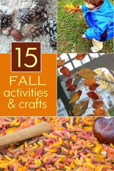 8 fall crafts to make with the kids and 7 fall activities to do with kids this fall. Fun to make and do all season long!