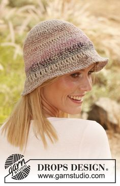 Julia Hat by DROPS Design    http://www.garnstudio.com/lang/us/pattern.php?id=5504=us