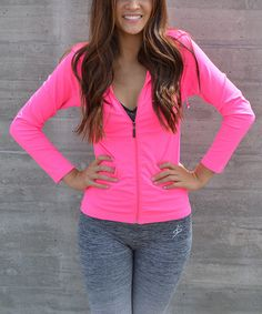 Look what I found on #zulily! Neon Pink Zip-Up Jacket #zulilyfinds