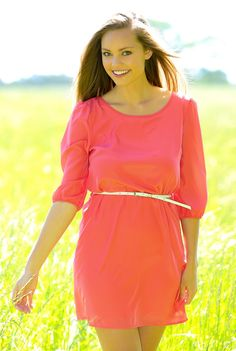 To Catch A Husband Tunic-Coral - Dresses