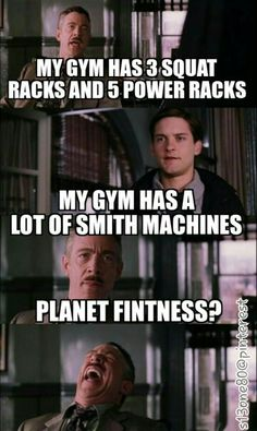 Planet fitness. Gym humor- I go here and even laugh at this particular feature. What the heck?!