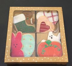Felt holiday Cutout Cookies, perfect for your Dramatic Play kitchen Place orders at FeltSewReal@aol.com
