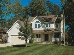 New American Home Plan with 1882 Square Feet and 4 Bedrooms from Dream Home Source House Plan Code DHSW077596