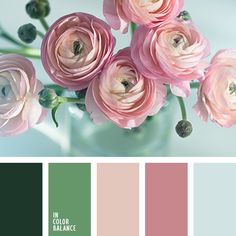 blue color bright pink color color matching color of green leaves color of pink roses color of roses color palette for interior contrast blue color