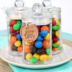 Sweet Little Lolly Jar with Personalised Bamboo tag