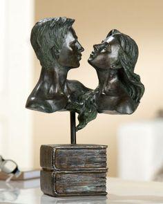 Gilde-Francis-Engel-Paar-Geraldine-2er-Set-betend-Skulptur