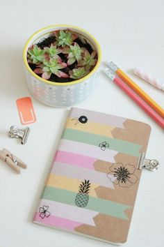 AMAZING Washi Tape Collection ideas for your Bullet JournalWashi Tape has become one of the most popular articles for the Bullet Journal. The fact that there are so many different-looking Washi tapes to collect and Washi Tape Notebook, Washi Tape Journal, Washi Tape Cards, Washi Tape Planner, Washi Tape Diy, Diy Notebook, Masking Tape, Duct Tape, Diy Avec Du Washi Tape