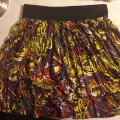 Colorful circle skirt with pockets! New! Watercolor printed flowy skirt Skirts Circle & Skater
