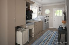Looking for Cottage Storage and Utility ideas? Browse Cottage Storage and Utility images for decor, layout, furniture, and storage inspiration from HGTV. Laundry Room Organization, Home Organization Hacks, Organizing Your Home, Laundry Storage, Beautiful Closets, Simple Closet, Closet System, Living Spaces, Laundry Area