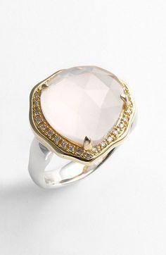 Whitney Stern Stone & Diamond Cocktail Ring   Nordstrom #Nordstrom