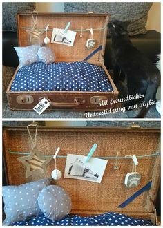 Wie aus einem alten Koffer ein Katzenkörbchen wird