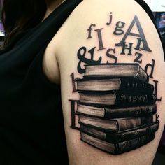 Avid readers always have books to read, but also book tattoos... By Rabbit Abby.