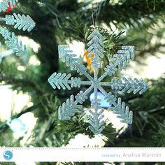 Glittered Snowflake Ornaments   Analisa Murenin for Silhouette