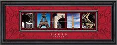 Paris Letter Art #paris