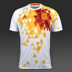adidas Spain 2016 Away Shirt - White Power Red 6f3c455e552b1