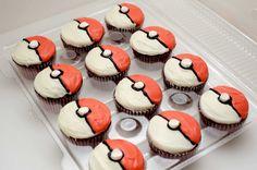 Pokeball cupcakes! Very cool #pokemon