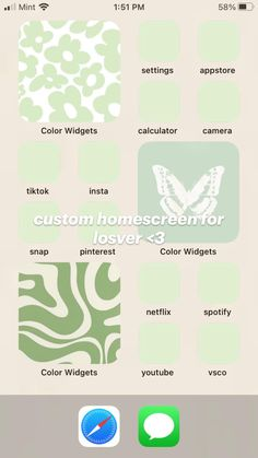 custom homescreen for losver <3