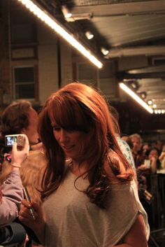 Catherine Tate is stunning! Autograph signing after stage performance of Much Ado About Nothing. Love it!