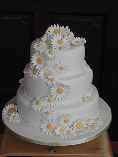 Daisy Wedding by sweetobsessions, via Flickr. Would be cute with daisies in your colors.