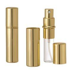 Riverrun Set of 3 Gold Purse Travel Perfume Cologne Atomizers Spray Bottle 10ml 1/3 oz (Set of 3)
