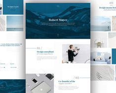 p download personal website flat design free psd template here are