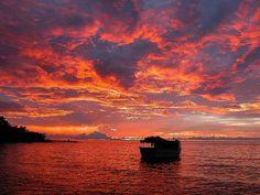 Sunset at Londo Bay, Lake Malawi, Mozambique