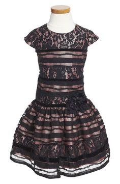 Isobella & Chloe 'Madeline' Cap Sleeve Dress (Toddler Girls & Little Girls)