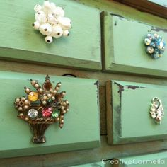 Replace Jewelry Or Treasure Box Lining Green Felt Smooth