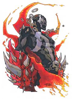 Big in the Spawn Spawn Spawn! Created by a guy named McFarlane! Had his own show on HBO! Did the plot make sense, No No No! I love that song. Comic Book Drawing, Comic Books Art, Cartoon As Anime, Anime Comics, Spawn Comics, Character Art, Character Design, Arte Cyberpunk, Demon Art
