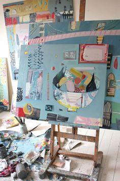Anna Hymas Paintings - Playful & Colourful Still Life & Landscape Art Art And Illustration, Painting Studio, Painting & Drawing, Studios D'art, Art Du Collage, Creation Art, Art Sculpture, Print Artist, Art Design