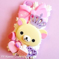 Rilakkuma and Korilakkuma princess IPhone 4/4s, 5, Samsun Galaxy S2 S3 S4 Mini Decoden Phone Case on Etsy, $22.00