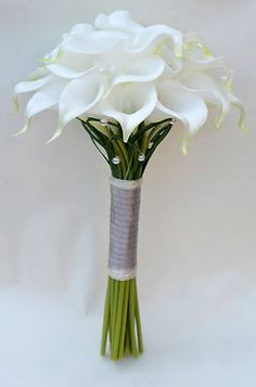 Calla Lilies Elegant Wedding Bouquets - Bridal, Bridesmaid, Wand, Buttonholes | eBay  I know this isn't hen weekend related but... I am looking at making my own flowers, then saw these on ebay and i lovelovelove them!!