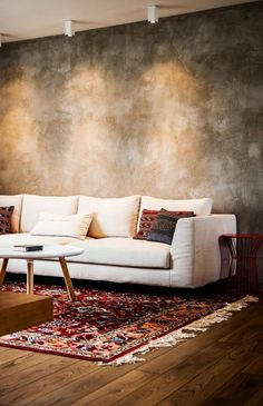 Wallpaper living room warm sofas ideas for 2019 Wall Painting Living Room, Accent Walls In Living Room, Living Room Flooring, Living Room Carpet, Painting Walls, Painting Tips, Living Room Decor Colors, Room Paint Colors, Living Room Designs
