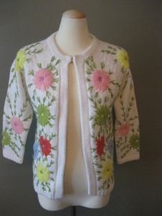 Embroidery is great, especially on spring sweaters and cardigans
