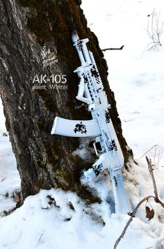 AK-105 paint winter.  Amazingly cool