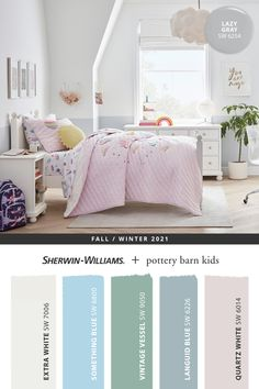 Bring childlike charm to any kids' bedroom with fresh and fun paint colors from Sherwin-Williams. Browse the @potterybarnkids Fall/Winter 2021 paint palette then shop online to find the paint and supplies you need. Tap this pin to get started. #sherwinwilliams #DIY #decor #kidsbedroom #lovemypbk #pbkids #potterybarnkids #homedecor #painting #colorinspiration #renovation #paint Kids Room Paint, Room Paint Colors, Inspiration For Kids, Color Inspiration, Kids Cafe, Sherwin William Paint, Painting For Kids, Pottery Barn Kids, Coloring For Kids