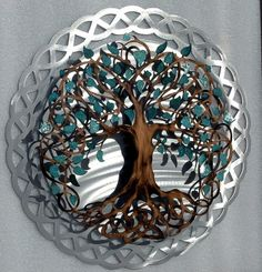 Traditional Painted Tree of Life  Infinity by HumdingerDesignsEtsy, $250.00