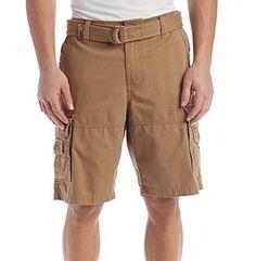 Ruff Hewn Men's Belted Cargo Short
