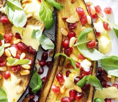Bijgerecht: Geroosterde aubergine 14 November, Fruit Salad, Acai Bowl, Menu, Breakfast, Food, Eggplants, Acai Berry Bowl, Menu Board Design