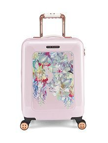 Ted Baker Luggage Polycarbonate Small 4 Wheel Trolley Carry on - Hanging Gardens for sale online Cabin Suitcase, Carry On Suitcase, Pink Suitcase, Travel Luggage, Travel Bags, Ted Baker, Trolley Case, Luggage Accessories, Summer Time