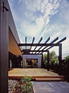 Backyard patio deck