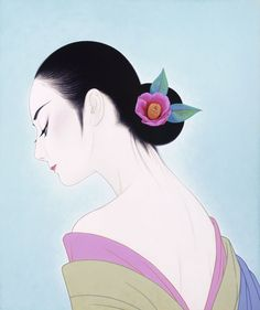 Ichiro Tsuruta 鶴田一郎, 1954 | Japanese beauty in Art Déco style | Tutt'Art@ | Pittura • Scultura • Poesia • Musica