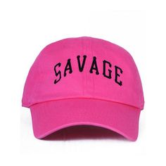 Nerdy Fresh Savage unv. Dad hat Hot Pink ($32) ❤ liked on Polyvore featuring men's fashion, men's accessories, men's hats, hot pink, mens caps and hats, mens fitted hats, vintage mens hats and vintage mens accessories