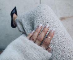 Lily Tiny Drop Diamond Ring with Diamond Row from mumbaistockholm