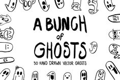 A Bunch of Ghosts by Digital Goodness on @creativemarket