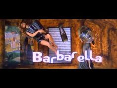 Barbarella opening titles - the original comic book art is also outstanding with lively black and white brush work by Jean Claude-Forest - colouring was never that great.