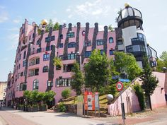 The Green Citadel of Magdeburg by Hundertwasser.