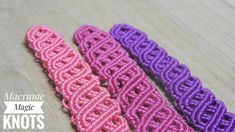 In this easy Macrame tutorial I'll show you How to Make Celtic bracelet with Easy and Simple Macrame pattern . Macrame Earrings, Macrame Bag, Macrame Knots, Macrame Jewelry, Wire Jewelry, Handmade Jewelry, Yarn Bracelets, Bracelet Crafts, Magic Knot